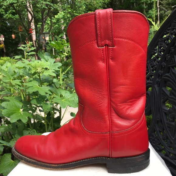 9ea37585eae Justin Boots Shoes - Justin Ropers Red Cowboy Boots